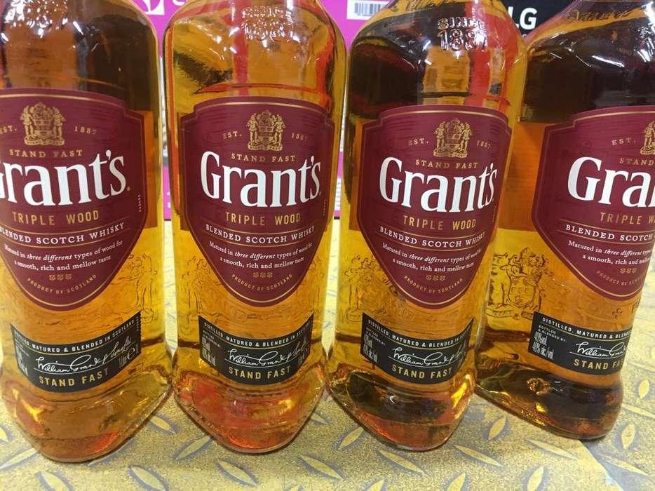 Vende Whisky Grants de 1 Litro