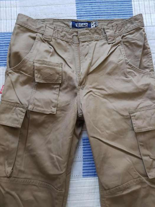 PANTALON CARGO DE TRABAJO FAR WEST COLOR BEIGE, TALLE 44, NUEVO