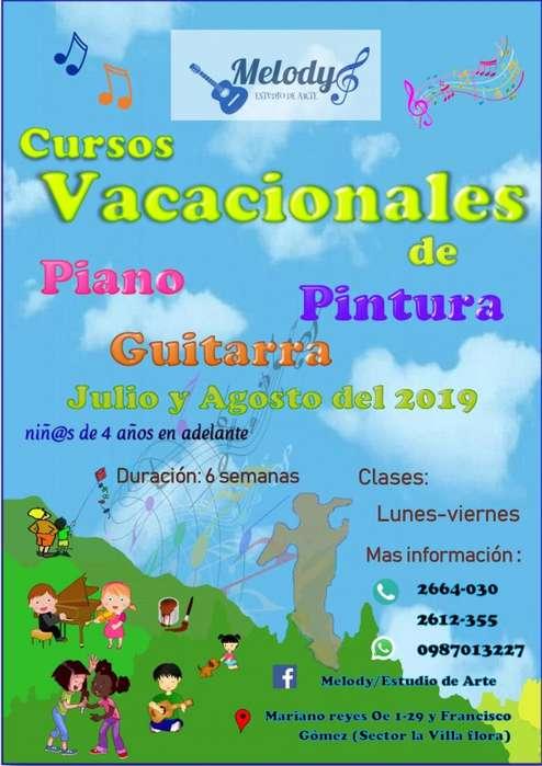 CURSOS VACACIONALES DE PINTURA , PIANO Y GUITARRA
