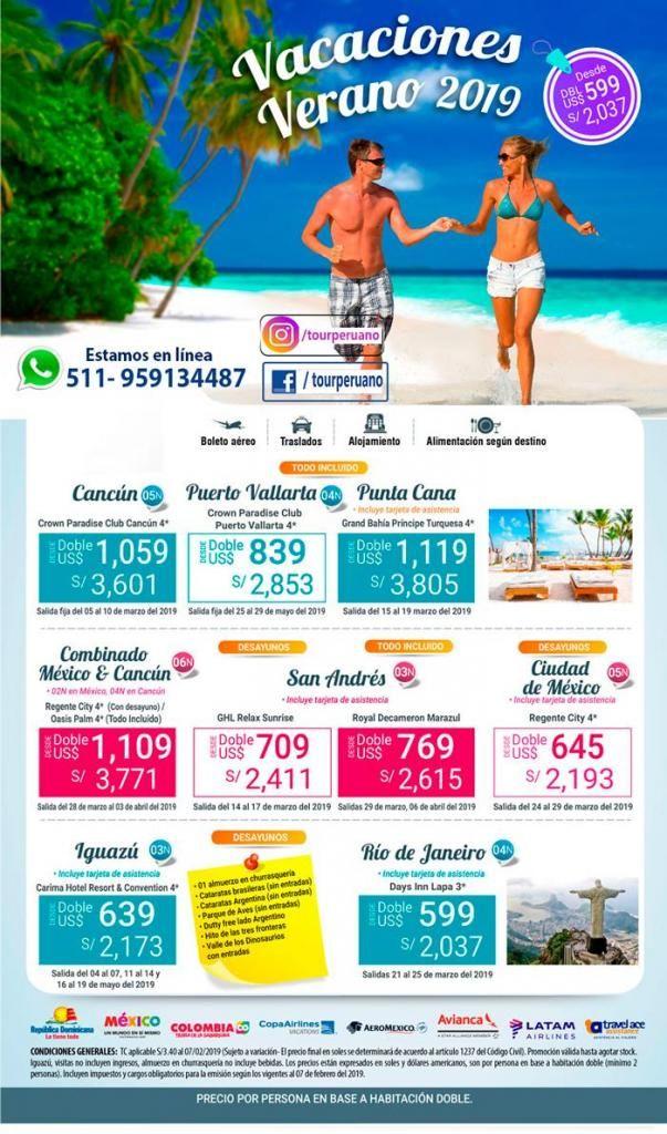 Viajes internacionales al Caribe confirmado hasta marzo 2019 agencia de viajes Tour Peruano