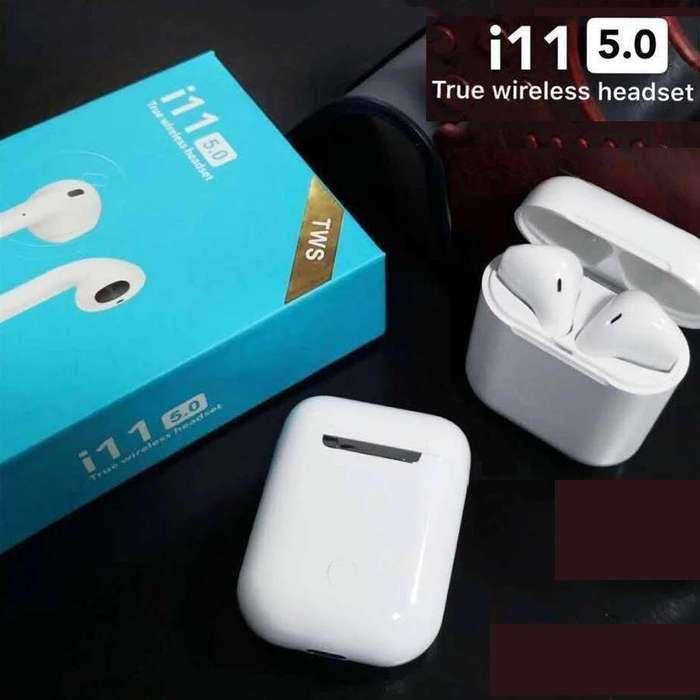 Audifonos Auriculares Inalambricos Bluetooth 5.0 i11 Aripods TACTILES PEQUEÑOS Manos libres