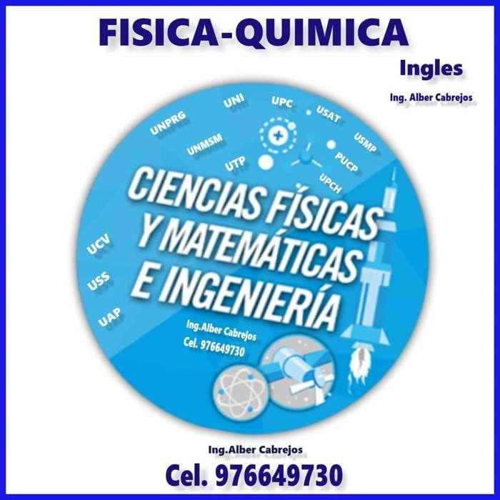 Ingeniero de UNPRG, te Afianza y te prepara a la UNI en todo Ciencias Matemáticas,Física y Química