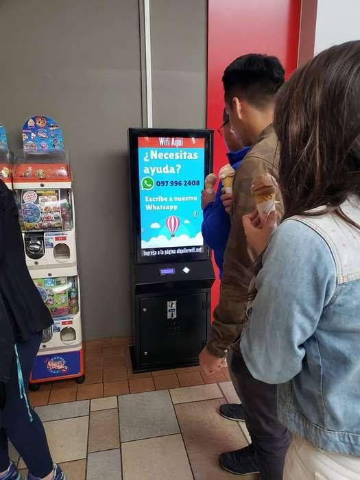 Maquina WIFI por monedas vending publicidad