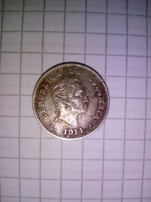 Moneda Diez Centavos 1911 Ley 0,900