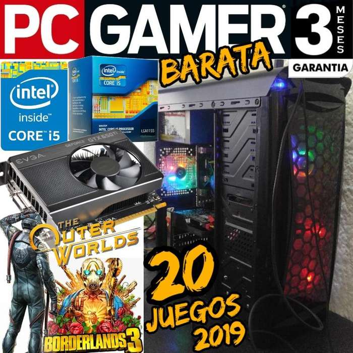 Pc Gamer Core I5 8gb 1 Tera Gtx 650ti Coolers Leds 20 Juegos