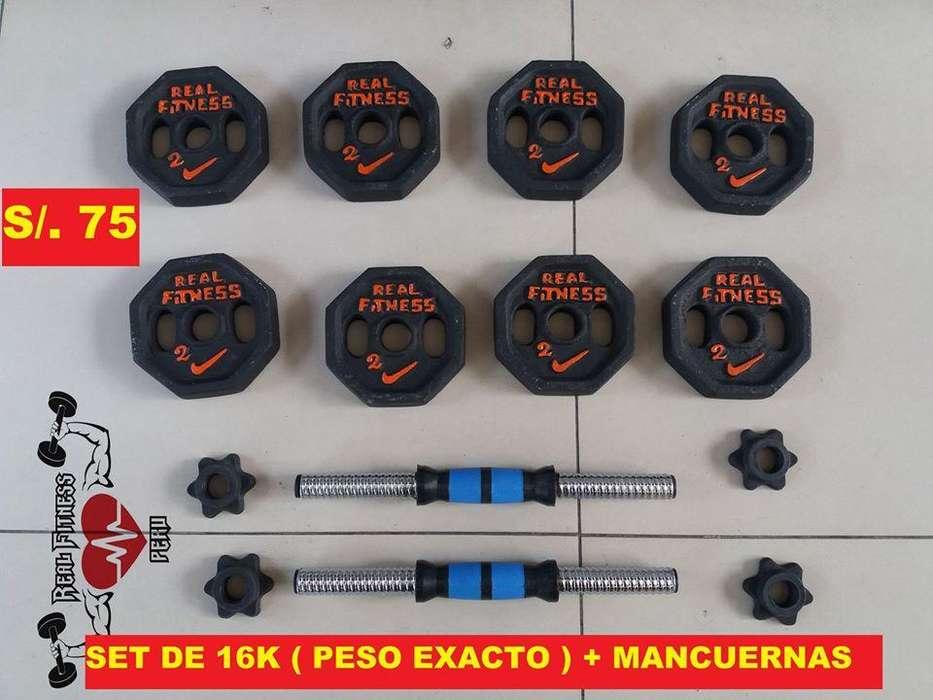 SET DE PESAS PESO EXACTO : 16kg - 20 kg - 24kg - 30kg - 32 kg - 40 kg