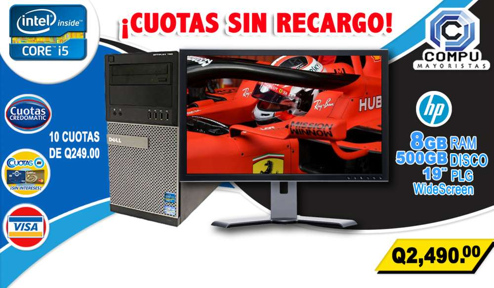 OPTIPLEX DELL INTEL CORE I5, MEMORIA RAM 8GB, DISCO DURO 500GB, SOLO ESTE MES PAGA AL RECIBIR, ENVIO GRATIS