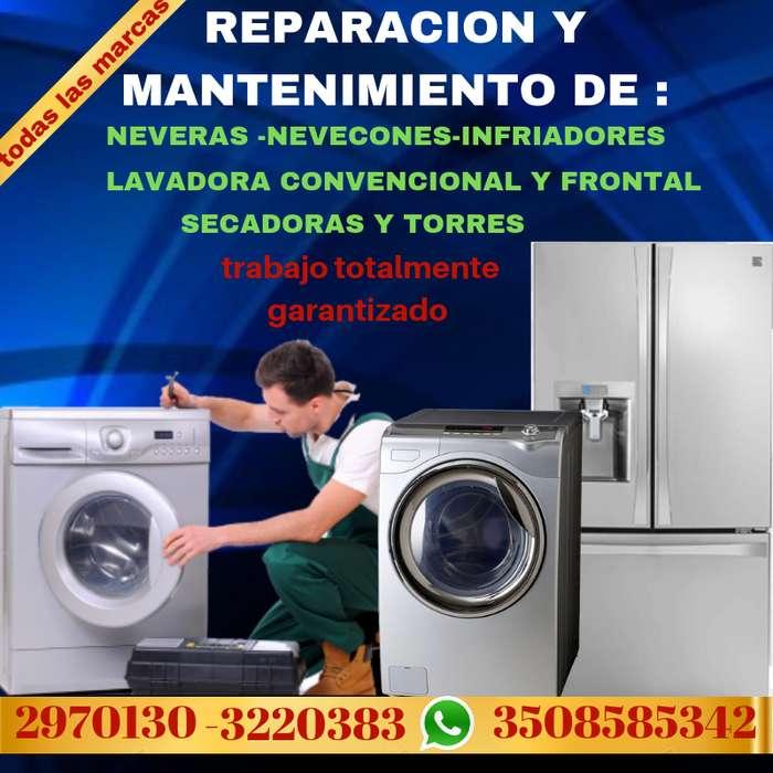 REPARACION DE NEVERAS Y LAVADORAS 2970130