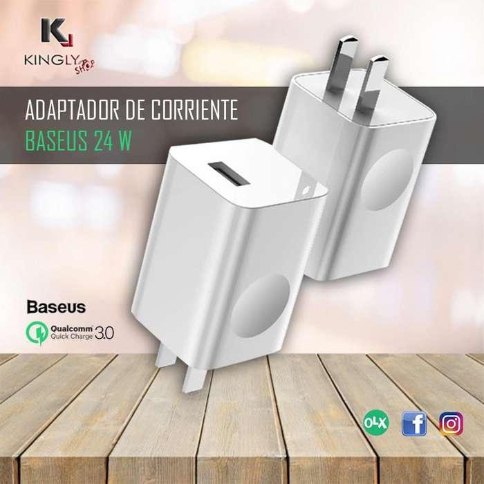 Adaptador de corriente Baseus QC3.0 hasta 24 W Tienda virtual en Trujillo Accesorios Trujillo Kingly Shop