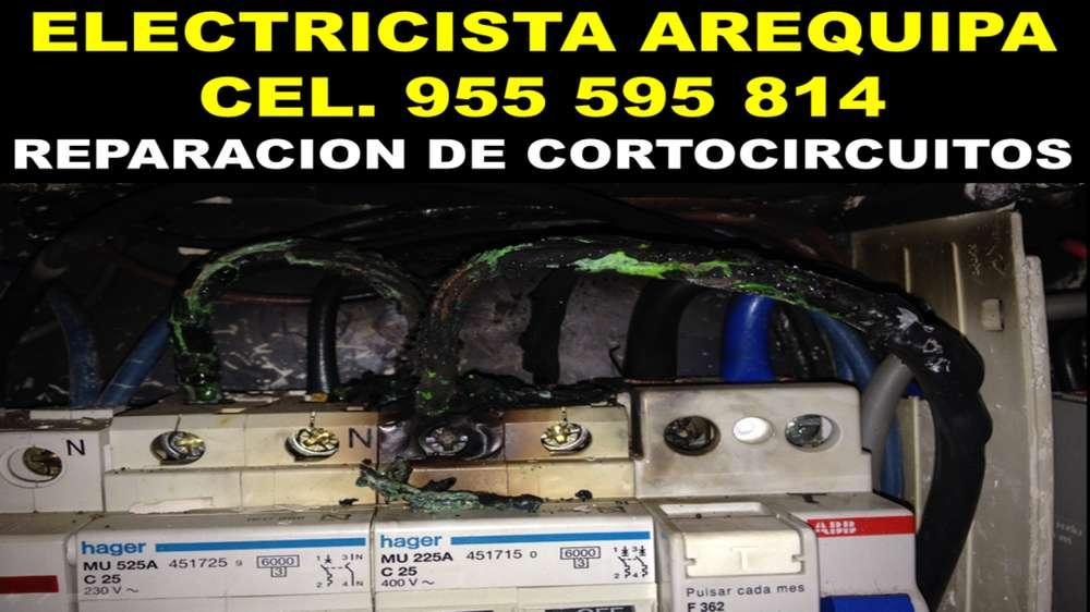 ¡EMERGENCIAS!ELECTRICISTA A DOMICILIO AREQUIPA C.955595814 INSTALACION,ILUMINACION,DUCHAS,FUGAS ELECTRICAS,REPARACIONES