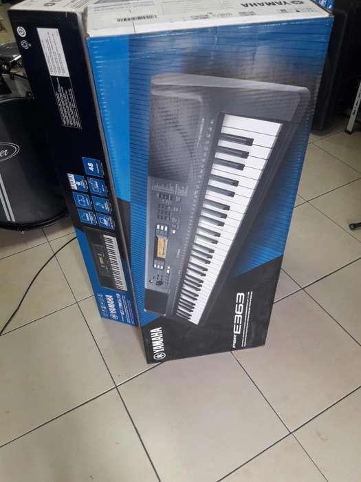 OFERTA DEL DIA. PIANO YAMAHA PSRE363 NUEVO. SELLADO. INCLUYE ADAPTADOR