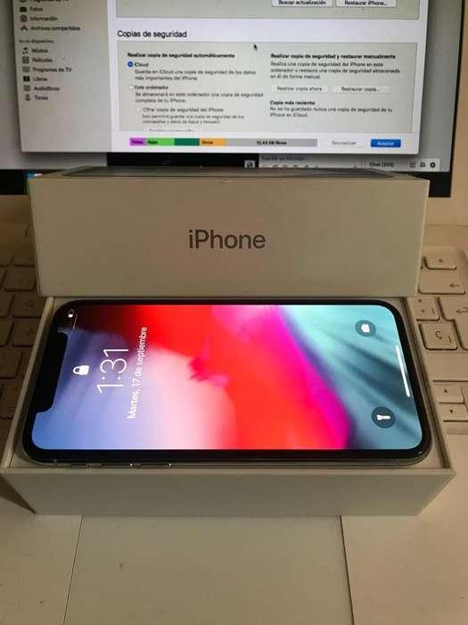 Ganga iPhone X 64Gb Silver Excelente