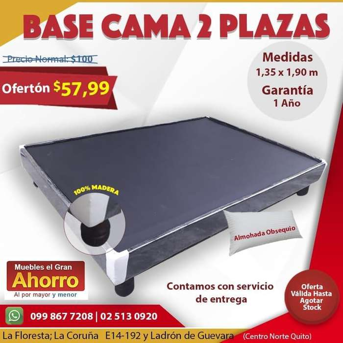 Base Cama 2 Plazas DOS PLAZAS MATRIMONIAL