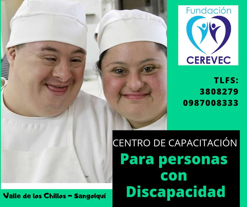 CURSOS PARA PERSONAS CON DISCAPACIDAD 0987008333 VALLE DE LOS CHILLOS