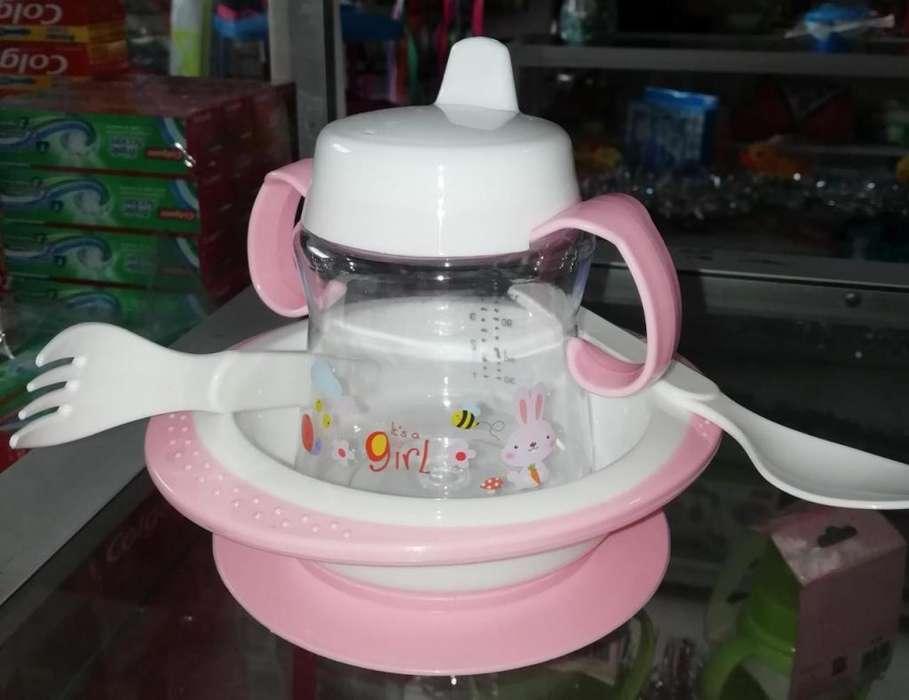vajilla adherible para bebe