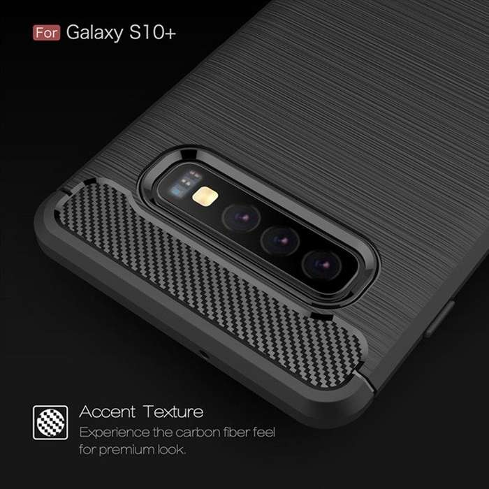 Funda Samsung Galaxy S10 Plus Carbono - Importada NUEVAS