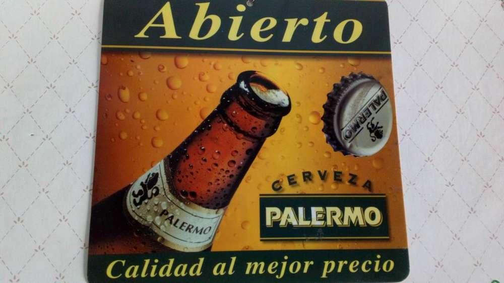 Cartel de plástico vintage cerveza Palermo