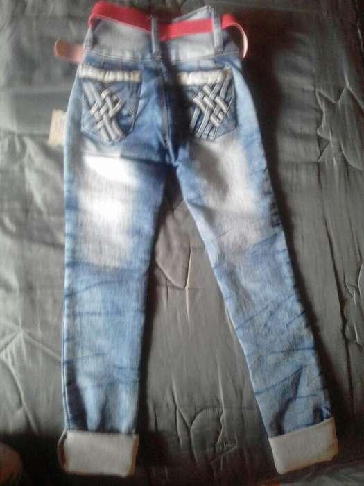 Pantalon Jean Niña Talla 6 Nuevo