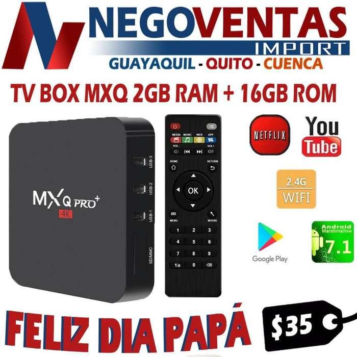 TV BOX MXQ PRO CON 2 RAM Y 16 GB INTERNA POR EL DIA DE PADRE