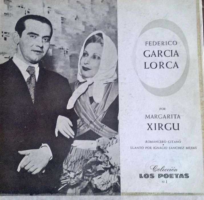 DISCOS DE VINILO F. GARCIA LORCA Y LUISA FERNANDA
