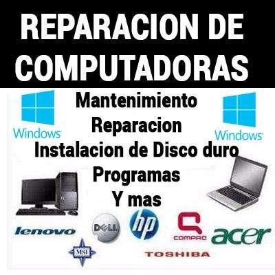 Reparación Y Mantenimiento Computadores A Domicilio