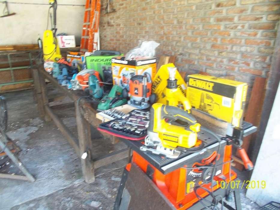 lote de herramientas para carpinteria