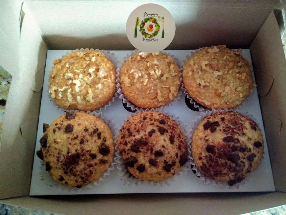 Muffins veganos / vegetarianos