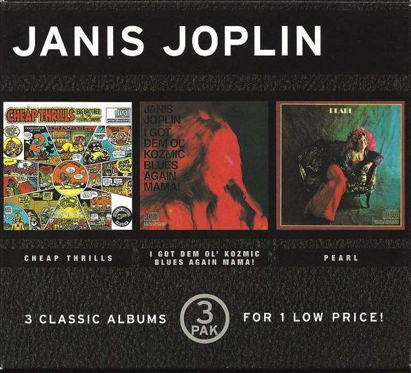 Janis Joplin 3 CDs en caja * Cheap Thrills * I Got Dem Ol' Kozmic Blues Again Mama! * Pearl Importados Made in USA