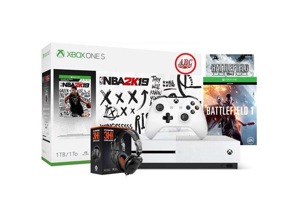 Xbox One S 1Tb Nba2k19 Battlefield 1 1943 Diadema Gamer