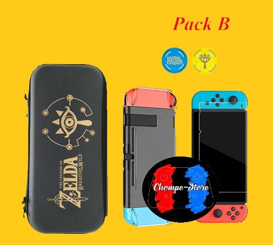 Pack Funda Protectora Para Nintendo Switch De Negra O De Zelda