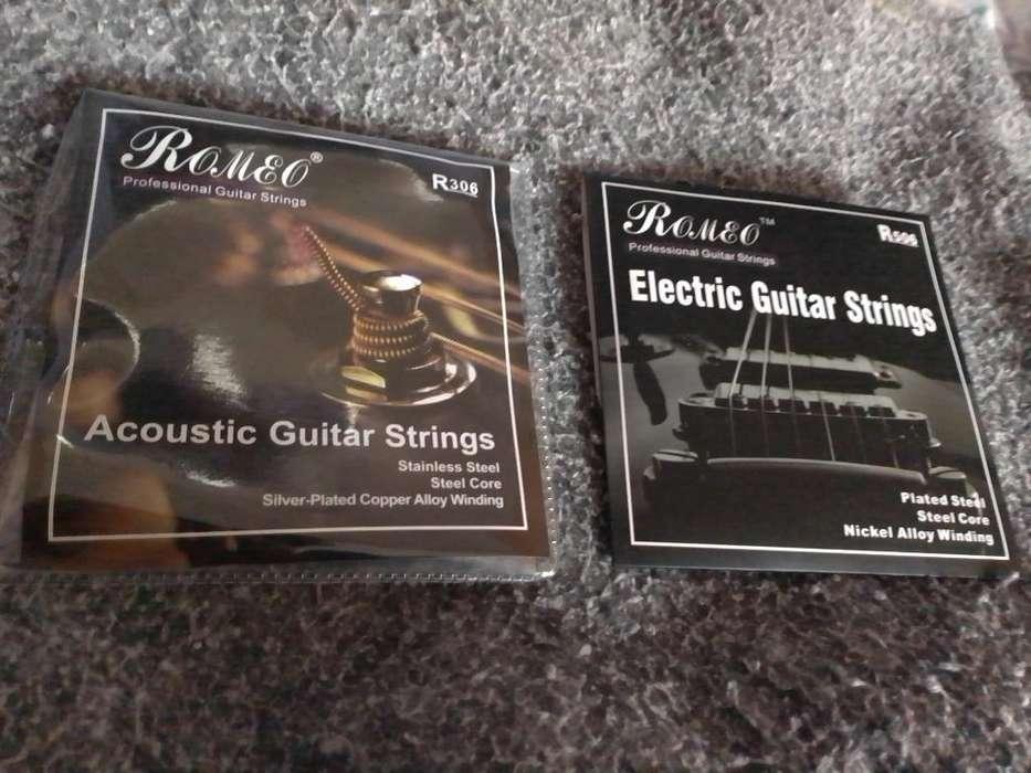 Cuerdas de Guitarra Eléctrica Y Acustica