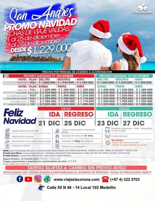 Viaje como un Rey a San Andrés promo navidad con Viajes la Corona