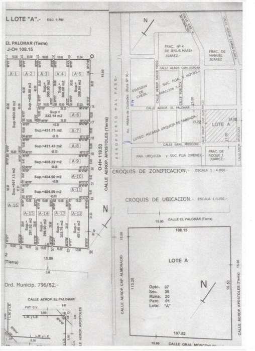 El Palomar- Mosconi -Apostoles - Lote - S & S Libertad Grupo Inmobiliario