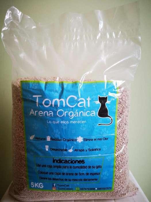 Vendo arena orgánica para gatos