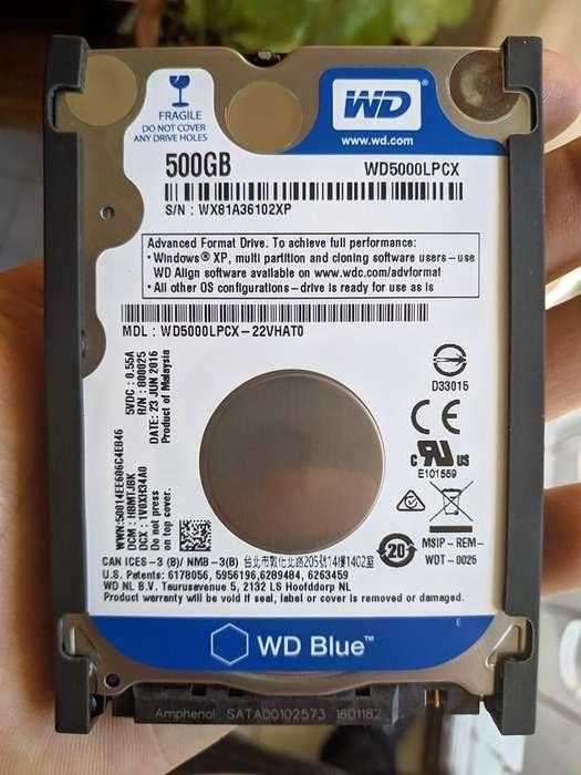 Disco duro WD 500gb 2.5