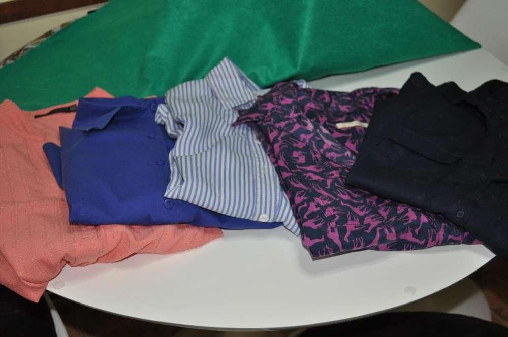 5 <strong>camisa</strong>s De Dama Talle Medium Oferton !!! Precio X Las 5 !!