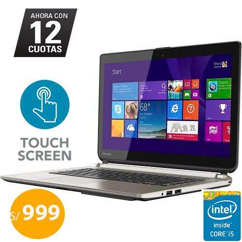 Laptop Tactil Ultrabook Toshiba E45t Core I5 Ram 8gb Disco 750gb 14