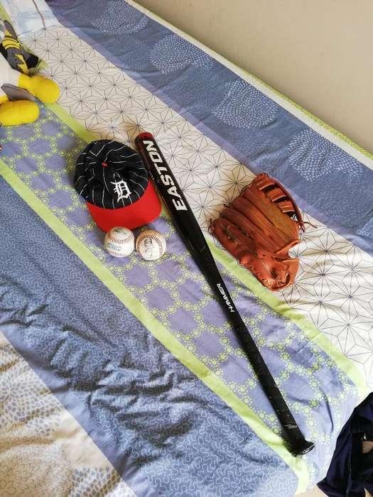 Bate de Baseball,guante,2 Bolas Y Gorra