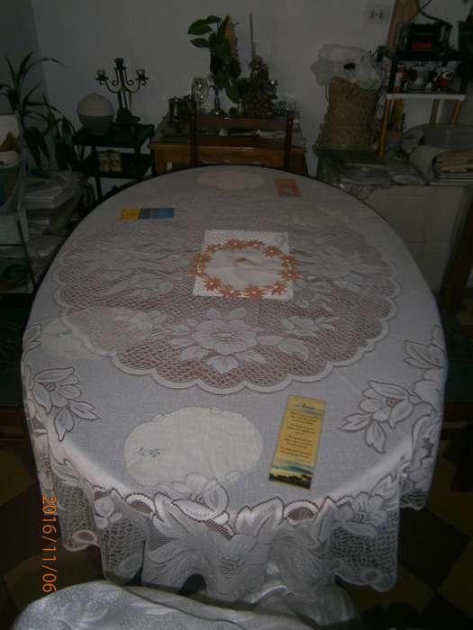 lindo mantel para mesa redonda u ovalada conforme a la foto 25mil