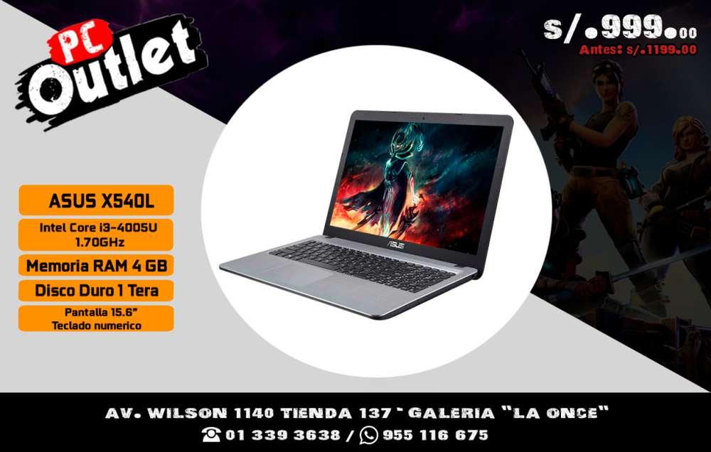 laptop ASUS X540L core i3 4500u teclado numerico