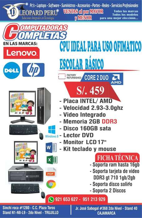 PCs IDEAL PARA USO OFIMATICO ESCOLAR