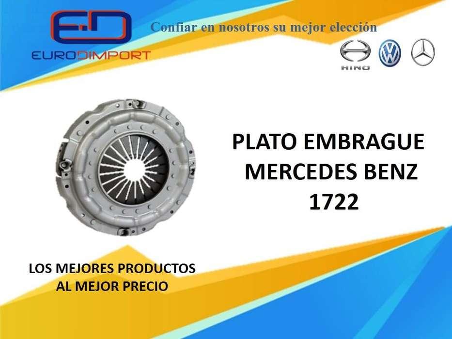 Plato embrague bus mercedes benz 1722