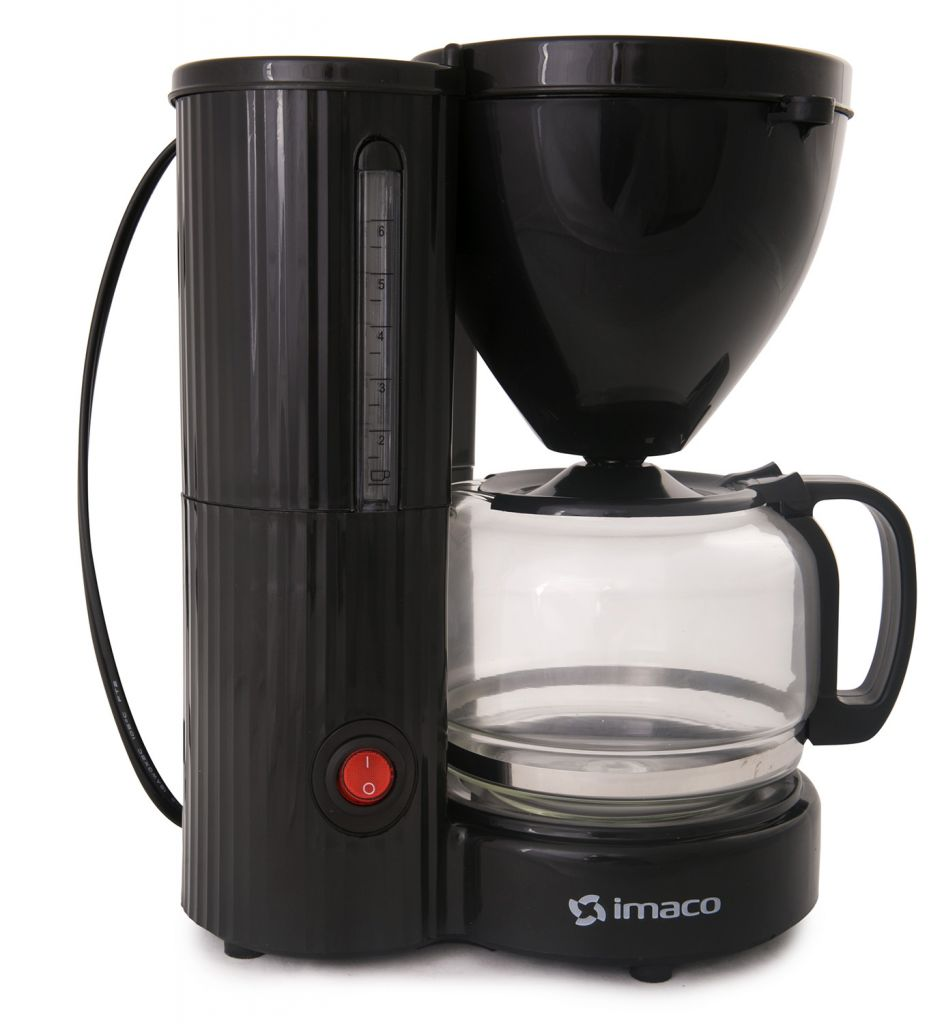 Cafetera Eléctrica Imaco 6/8 Tazas CM608N – Negro Electrodomesticos Jared