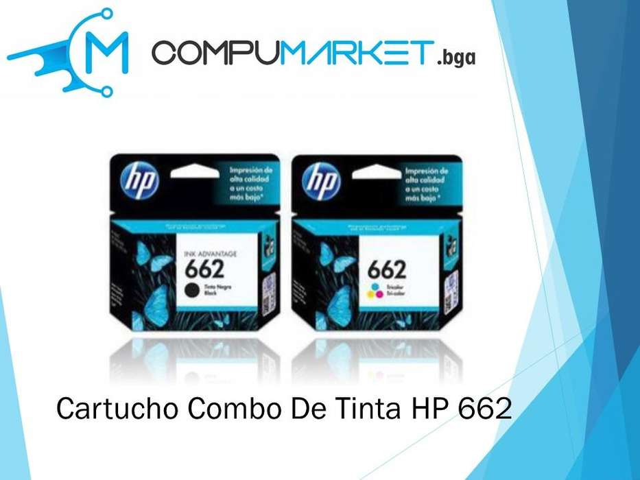 Cartucho combo HP 662 100% Original nuevo y facturado