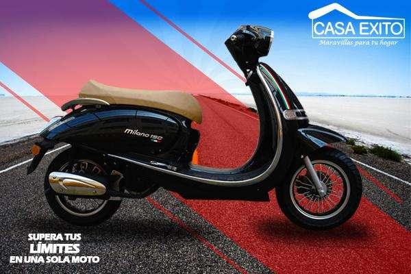 Moto Axxo Milano 150cc Año 2019 Negro / Blanco / Café / Vino Casa Éxito