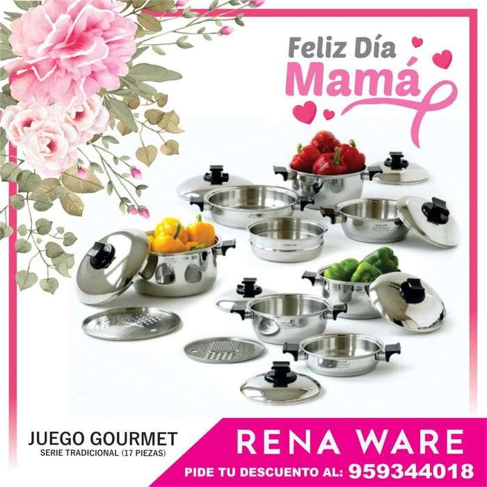 Juego Gourmet Rena Ware con REGALOS por el día de la madre