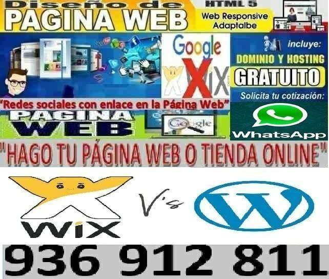 HAGO WEBPAGINAS o TIENDA ONLINE POR 450 SOLES