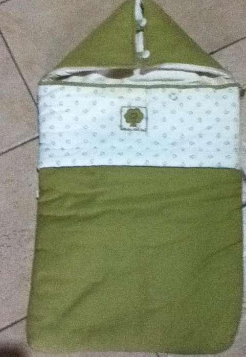 Porta Bebe !! Hermoso y Practico en color verde y beige