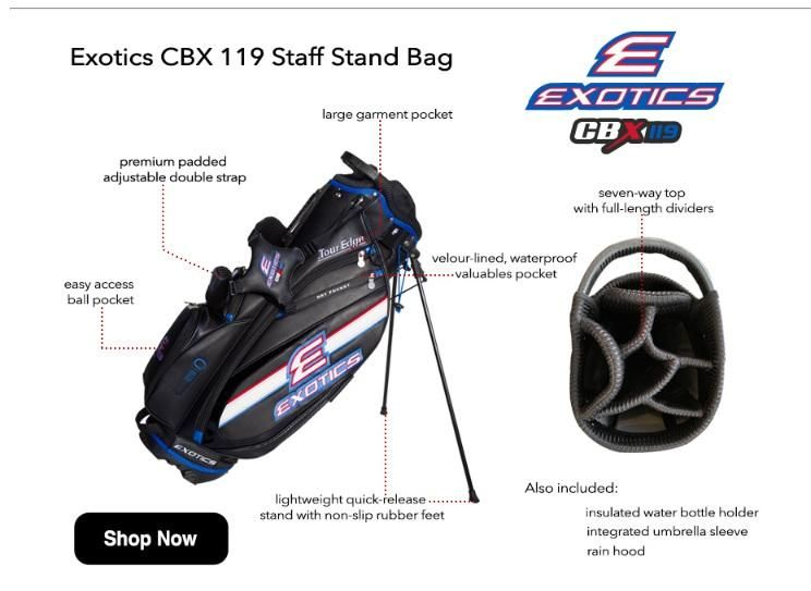 Bolsa Golf Staff  Exotics CBX119