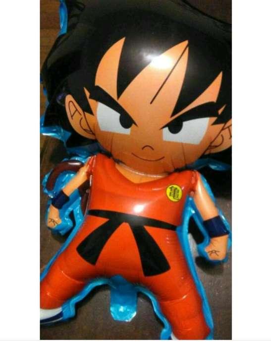 Set 5 Pzas Globos Goku Dragón Ball Z